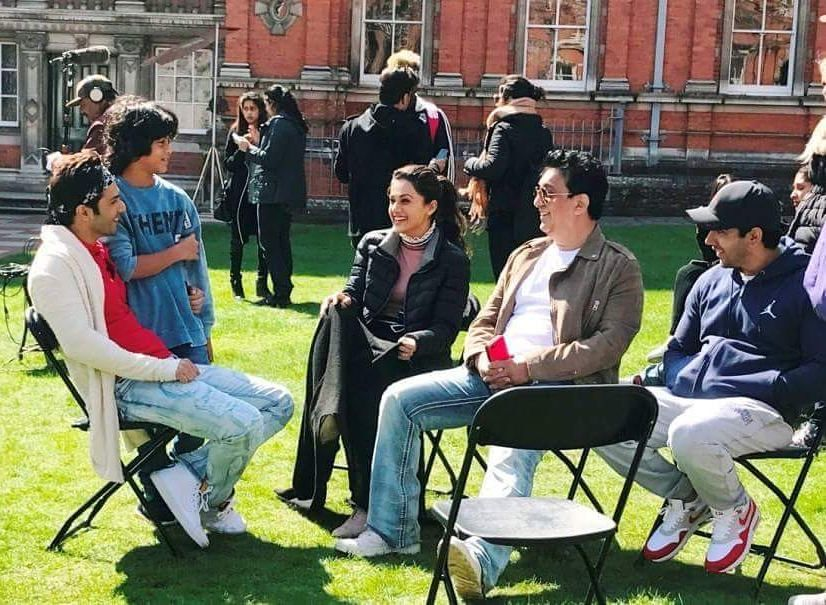 Sajid Nadiadwala on the set of Judwaa 2