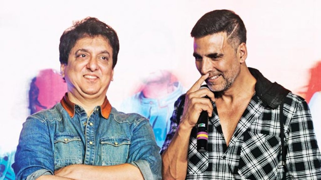 Sajid Nadiadwala with Akshay kumar at event