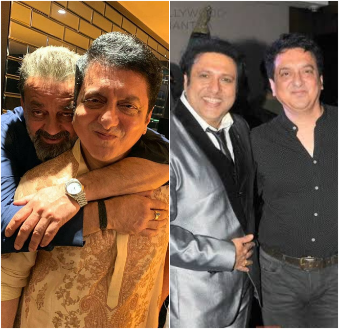 Sajid Nadiadwala with Govinda Ahuja and Sanjay Dutt