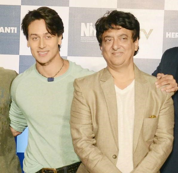 Sajid Nadiadwala at Heropanti event with Tiger Shroff