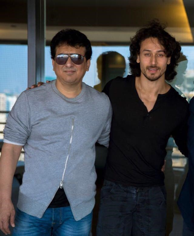 Sajid Nadiadwala with Tiger Shroff