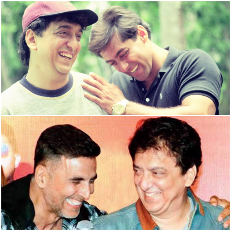 Sajid Nadiadwala with Salman Khan and Akshay Kumar