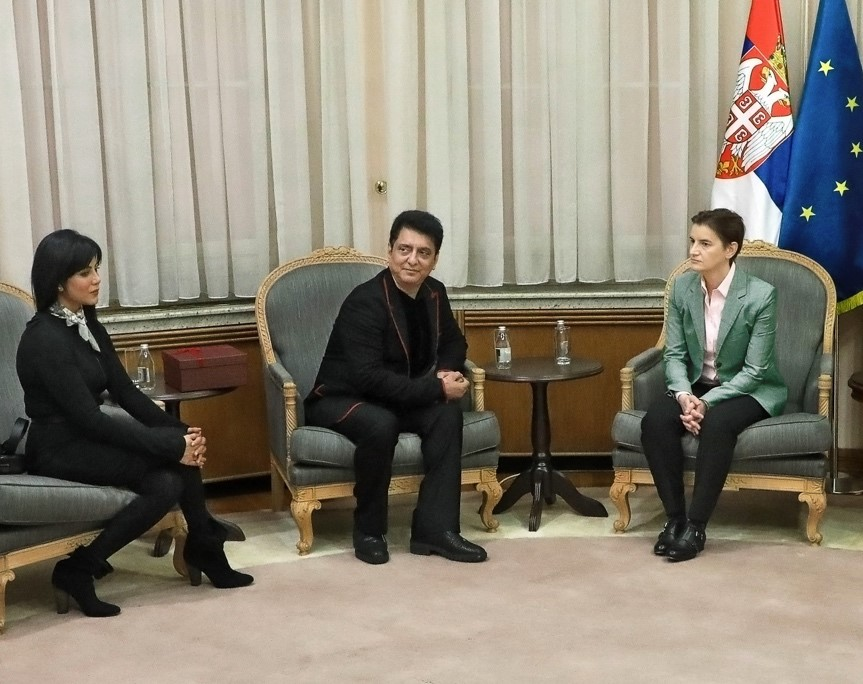 Indian Film Producers Sajid Nadiadwala Meets Serbian PM Ana Brnabić